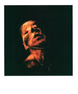 ritratto in lightpainting con polaroid con fibra ottica nera, light painting polaroid, lightpainting in polaroid