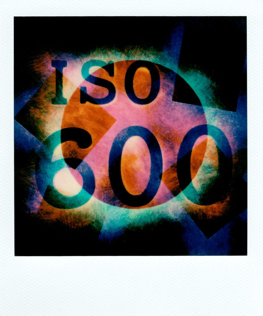polaroid light painting presented at ISO600 international 2019 Bologna